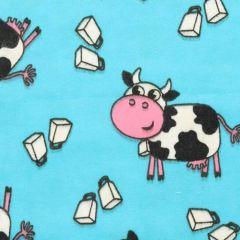 Tissu de Marie Stoff Flanell Kühe 1,15m - 10m