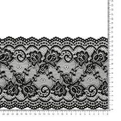 Nylon Spitzenband elastisch 160mm - 12,5m