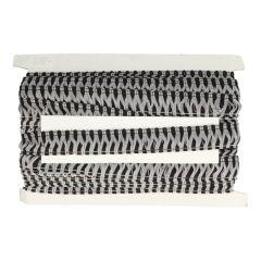 Fransenborte grau-schwarz - 25m