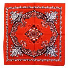 Bauern-Taschentuch rot und bunt - 10 Stück