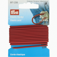 Prym Elastic-Kordel 2.5mm - 3m - 5Stk
