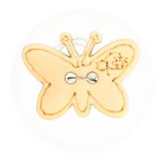 Knopf Holz Schmetterling gelasert Größe 24 - 50 Stück