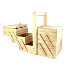 Nähbox Holz Ausziehbar klein & groß - 1Stk