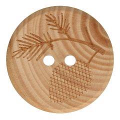 Knopf Holz Ast Größe 32-40 - 50Stk