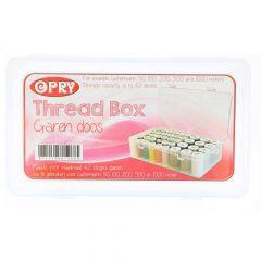 Nähfadenbox für maximal 42 Spulen 50-1000m - 10Stk
