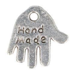 Anhänger Hand 'Hand Made' - 100Stk