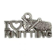 Anhänger I love knitting - 100Stk