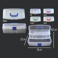 Opry Nähbox 9,6 Liter - 38x20x16,5cm - in 5 Farben - 1 Stück