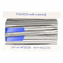 Einfassband elastisch silber - 25m