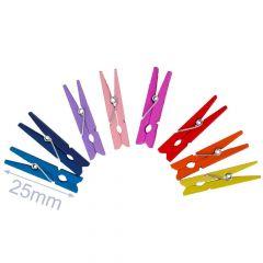 Wäscheklammer gefärbt - 25 mm - 40 Stück