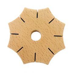 Knüpfstern aus Holz - 5Stk