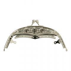 Taschen Verschluss Metall 15cm silber - 3Stk