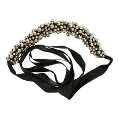 Taschengriff mit Perlen 25cm schwarz - 3 Stück - 1