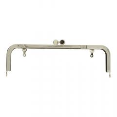 Taschen Verschluss Metall 21cm silber - 3Stk