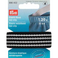 Prym Elastic-Bund non slip 25mm schwarz 1,2m - 5 Stück K