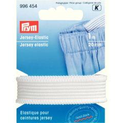 Prym Jersey-Elastic 20mm weiß-schwarz 1m - 5 Stück K