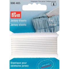Prym Jersey-Elastic 30mm weiß-schwarz 1m - 5 Stück L
