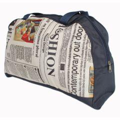 Stricktasche Zeitungs-Aufdruck - 1 Stück