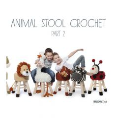 Animal stool crochet 2 - Anja Toonen - 1Stk