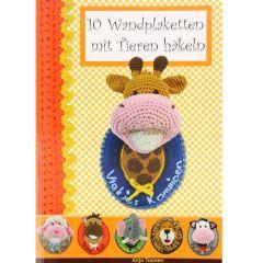 10 Wandplaketten mit Tieren häkeln - Anja Toonen - 1Stk
