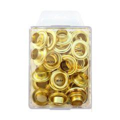 MMJZ Ösen 11mm-20 5,75 - 5 Stück - gold