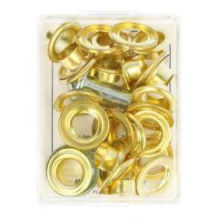 MMJZ Ösen+ Verarbeitungswerkzeug 11-15 - 5,75 - 5 Stk - gold