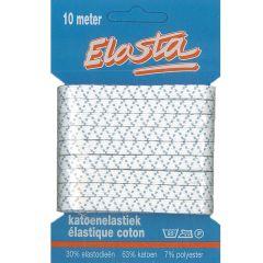 Elasta Baumwoll-Elastik 5,5mm-10m weiß - 10 Stück