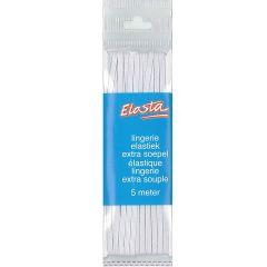 Elasta Lingerie-Elastik 2mm-5m weiß - 10 Stück