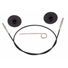 KnitPro Kabelverbinder schwarz mit silberfarbig