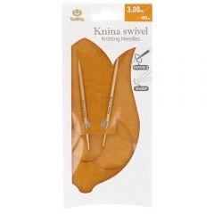 Tulip Knina Swivel Rundstricknadel dreh. 40cm - 3Stk