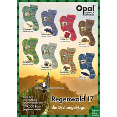 Opal Regenwald XVII Sortiment 5x100g - 8 Farben - 1Stk