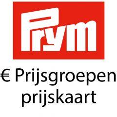 Prym Preisgruppen per 01-01-2018 - Preiskarte - 1 Stück