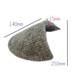 Schulterpolster Mantel Filz - 10 Paar - grau