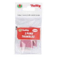 Tulip Fingerhut zum Filzen rosa - 3x2Stk
