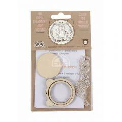 DMC Mini Stickrahmen Bär mit Kette - 1Stk