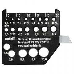 Addi Nadelmaß mit Messer schwarz - 1x10Stk