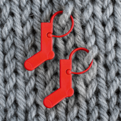 Addi Maschenmarkierer Socke rot - 6-100Stk