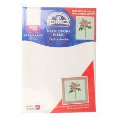 DMC Aida Stickstoff 7 Loch-cm 50x75cm - 1Stk - BLANC