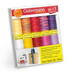 Gütermann Nähfaden-Set Deco Stitch Nr.70 10x70m - 1st