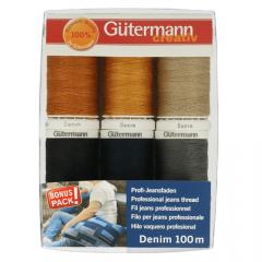 Gütermann Nähfaden-Set Denim 6x100m - 1Stk