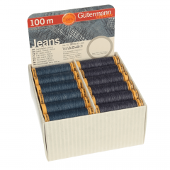 Gütermann Storage und Display Box Jeans 36 Spulen - 1Stk
