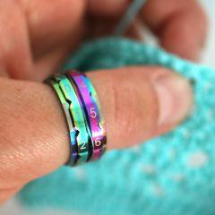KnitPro Reihenzähler Ring 17,3-21,4mm Regenbogen - 3Stk