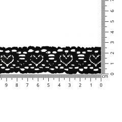 Nylon Elastik-Spitzenband 25mm - 25m