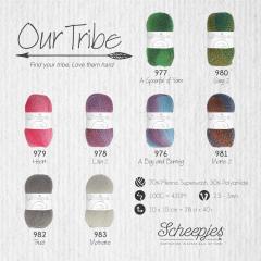 Scheepjes Our Tribe Sortiment 5x100g - 8 Farben - 1Stk