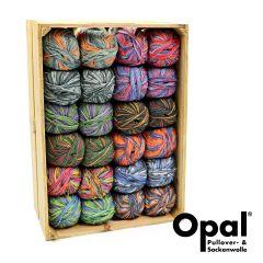 Opal Sortiment 4-fach 2x100g - 12 Farben - 1Stk