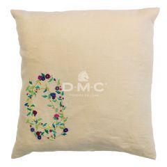 DMC Stickpackung Kissenhülle Spring Florals 40x40cm - 1Stk