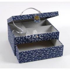 DMC Blue Boxes rechteck. Nähkasten Schubl. 21x28x15cm - 1Stk