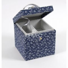 DMC Blue Boxes viereckiger Nähkasten 16x16x16cm - 1Stk