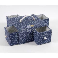 DMC Blue Boxes Nähkasten schmale Laden 25x25x12,5cm - 1Stk